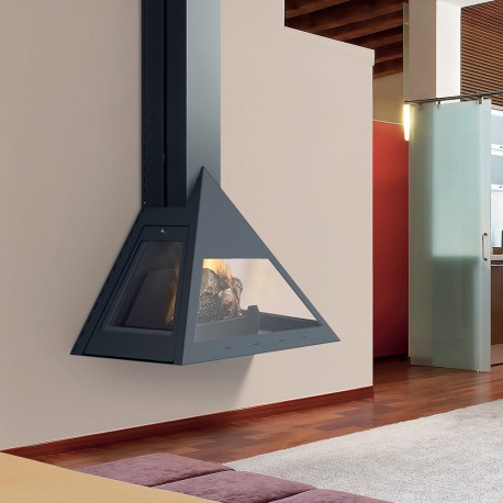 Chazelles KYLEN metāla kamīns (melns vai pelēks)