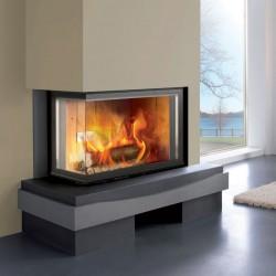 Chazelles Design D1000 VAG kurtuve ar stūra stiklu 13.5 kW